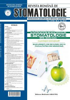 Revista Romana de STOMATOLOGIE - Romanian Journal of Stomatology, Vol. LVIII, Nr. 2, An 2012
