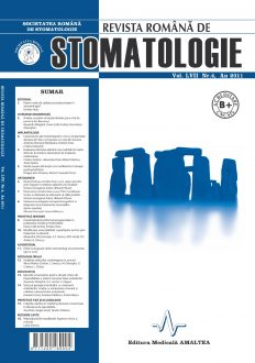 Revista Romana de STOMATOLOGIE - Romanian Journal of Stomatology, Vol. LVII, Nr. 4, An 2011