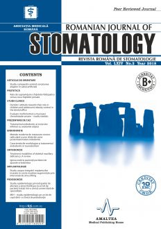 Revista Romana de STOMATOLOGIE - Romanian Journal of Stomatology, Vol. LXIV, Nr. 3, An 2018