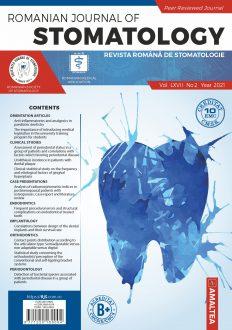 Romanian Journal of Stomatology | Vol. LXVII, No. 2, Year 2021